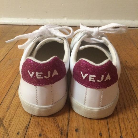 Veja Shoes | Pink Glitter Veja Sneaker